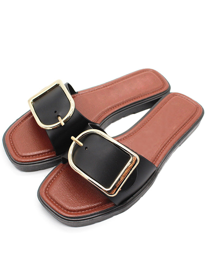 Adjustable Buckle Casual Summer Slippers