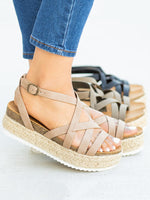 Adjustable Buckle Artificial Pu Holiday Flat Heel Sandals
