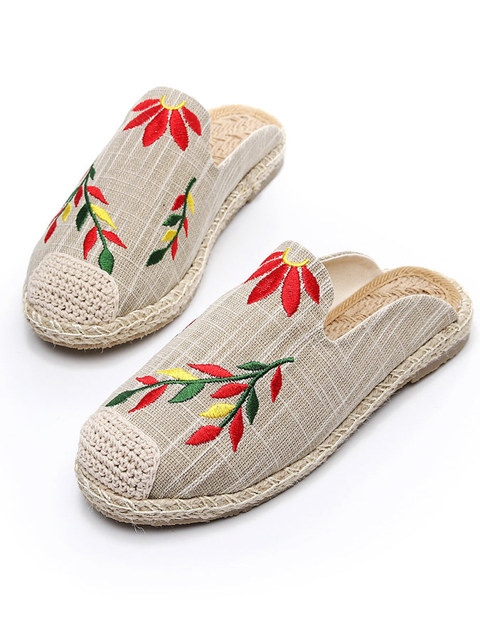Casual Embroidery Slippers