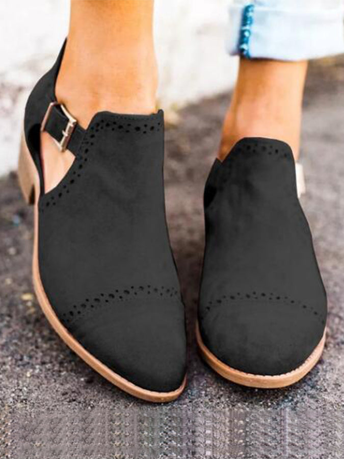 Chunky Heel Solid Spring/fall Casual Shoes