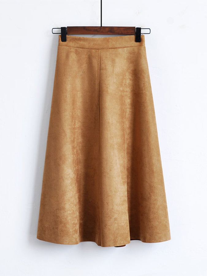 A-Line Solid Skirts