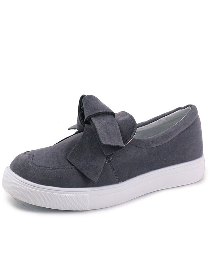 Bowknot Casual Cloth All Season Flats