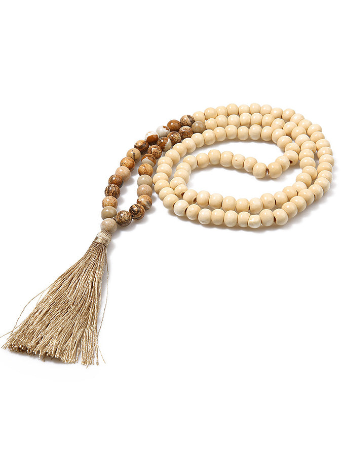 Ethnic tassel necklace