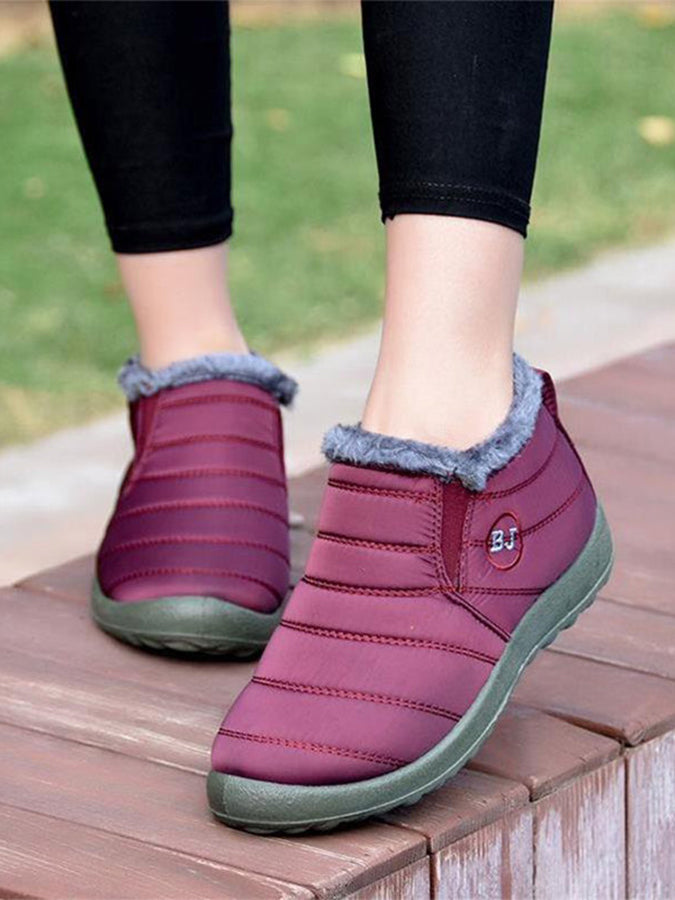 Waterproof women's shoes with velvet