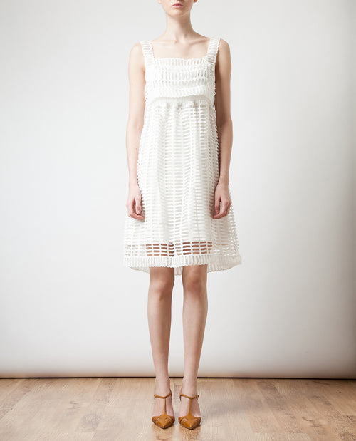 Birdcage' Cotton-silk Dress