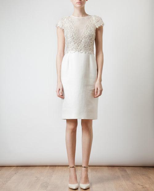Cotton and Silk-Organza Dress