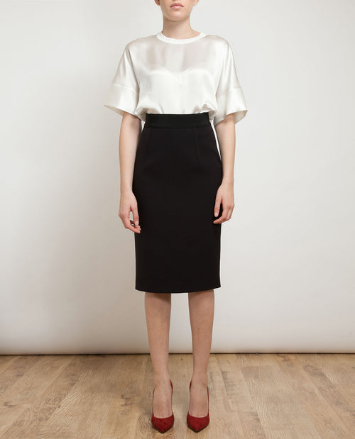Classic Silk-blend Pencil Skirt