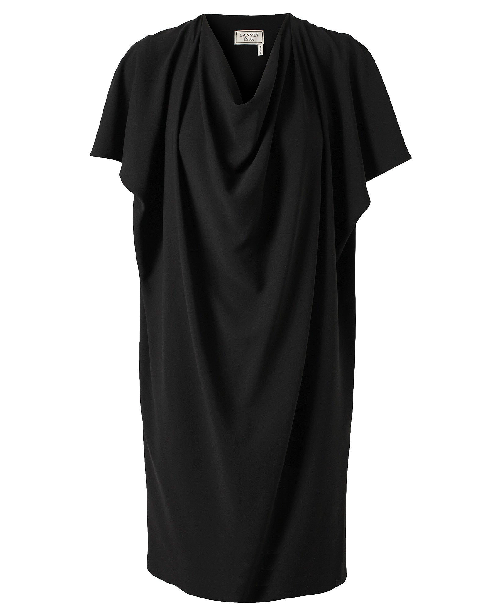 Draped Crepe Silk Dress