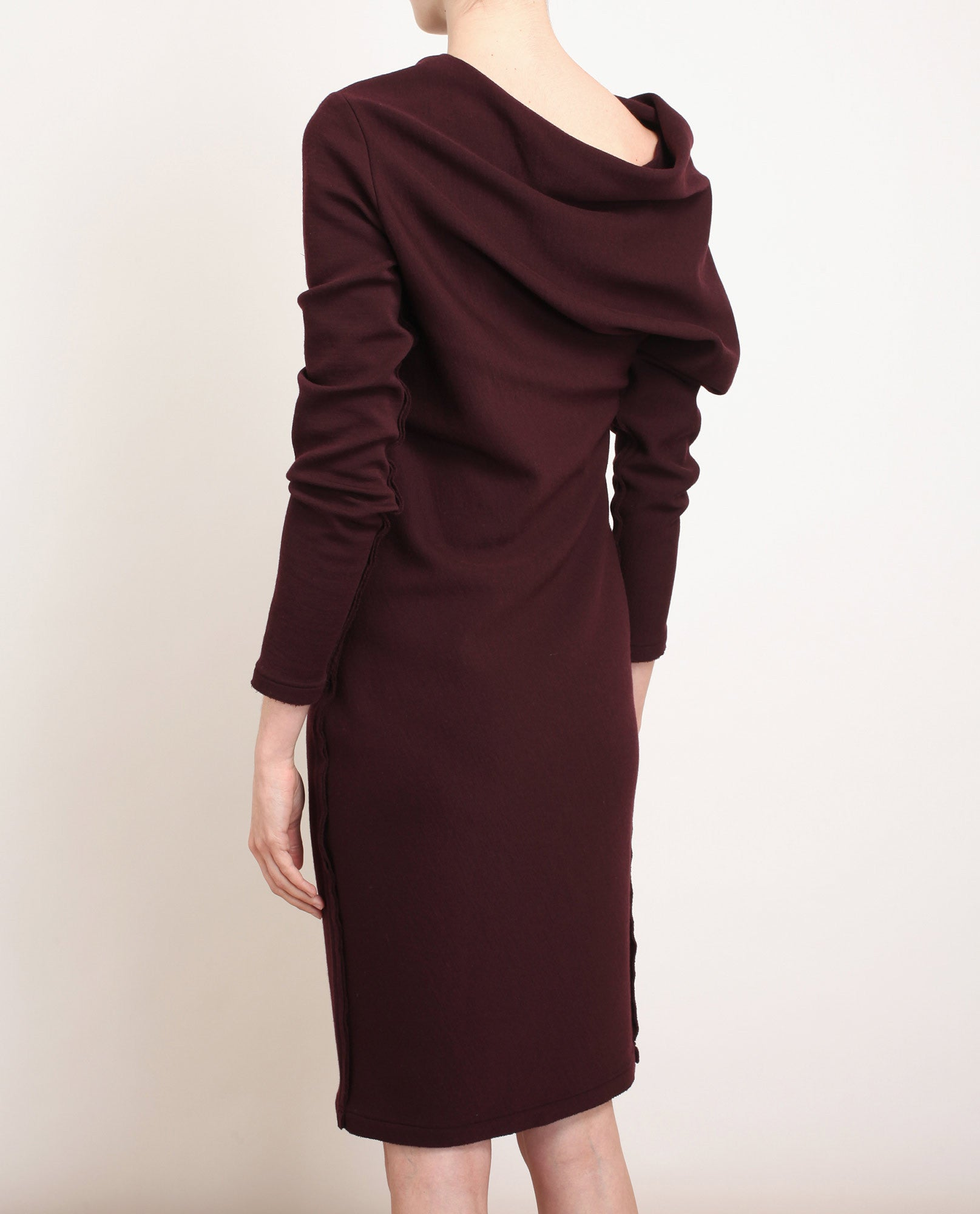 Stretch Knit Wool Dress