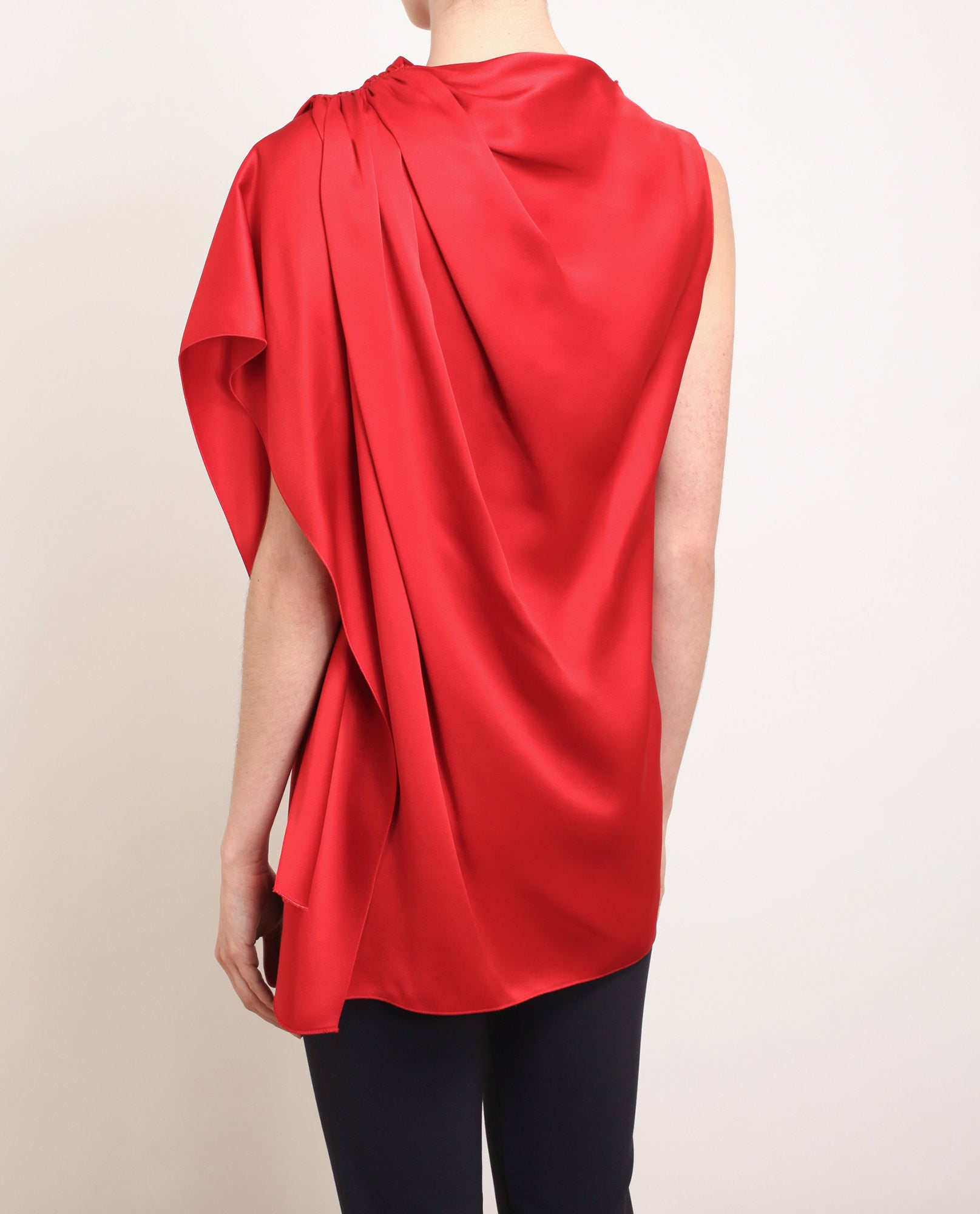 Gathered Satin Top