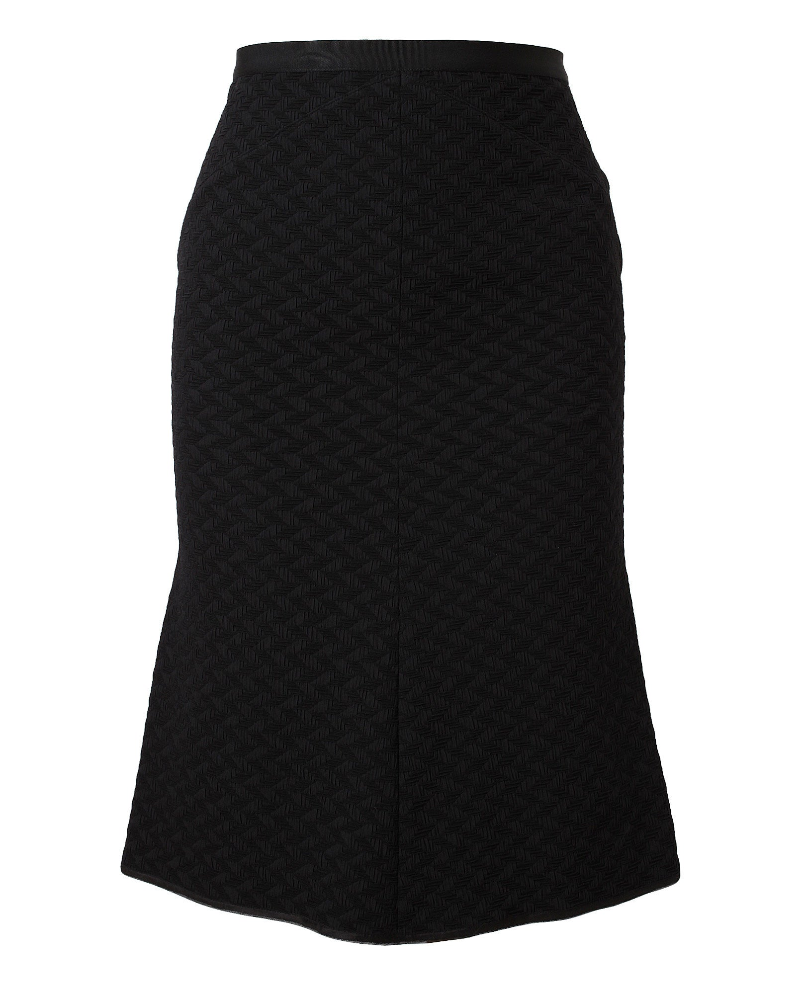 Stretch Jersey Textured Skirt