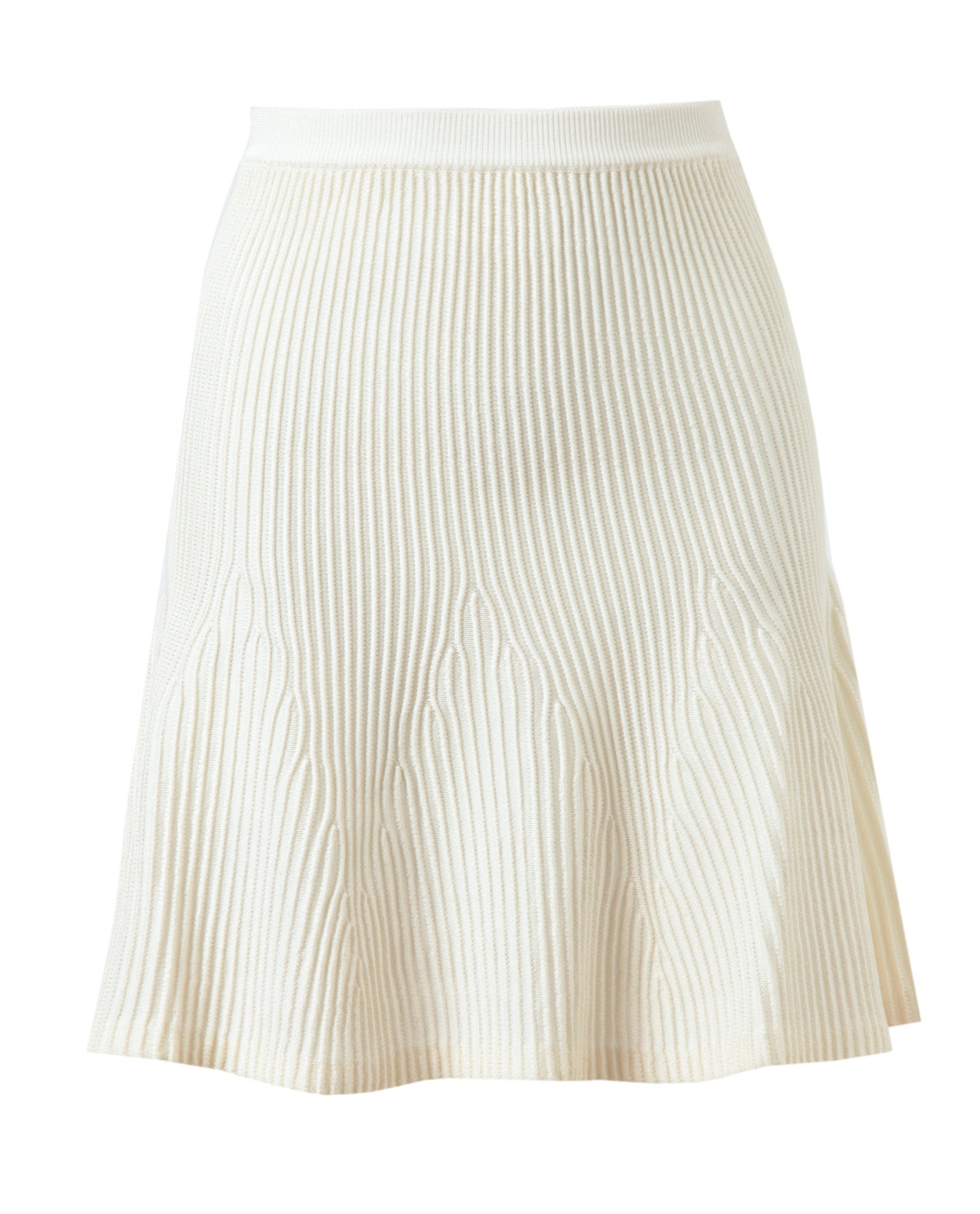 Ribbed Stretch Knit Skirt