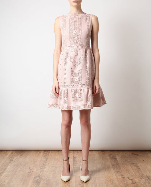 Crocheted Guipure Lace Dress
