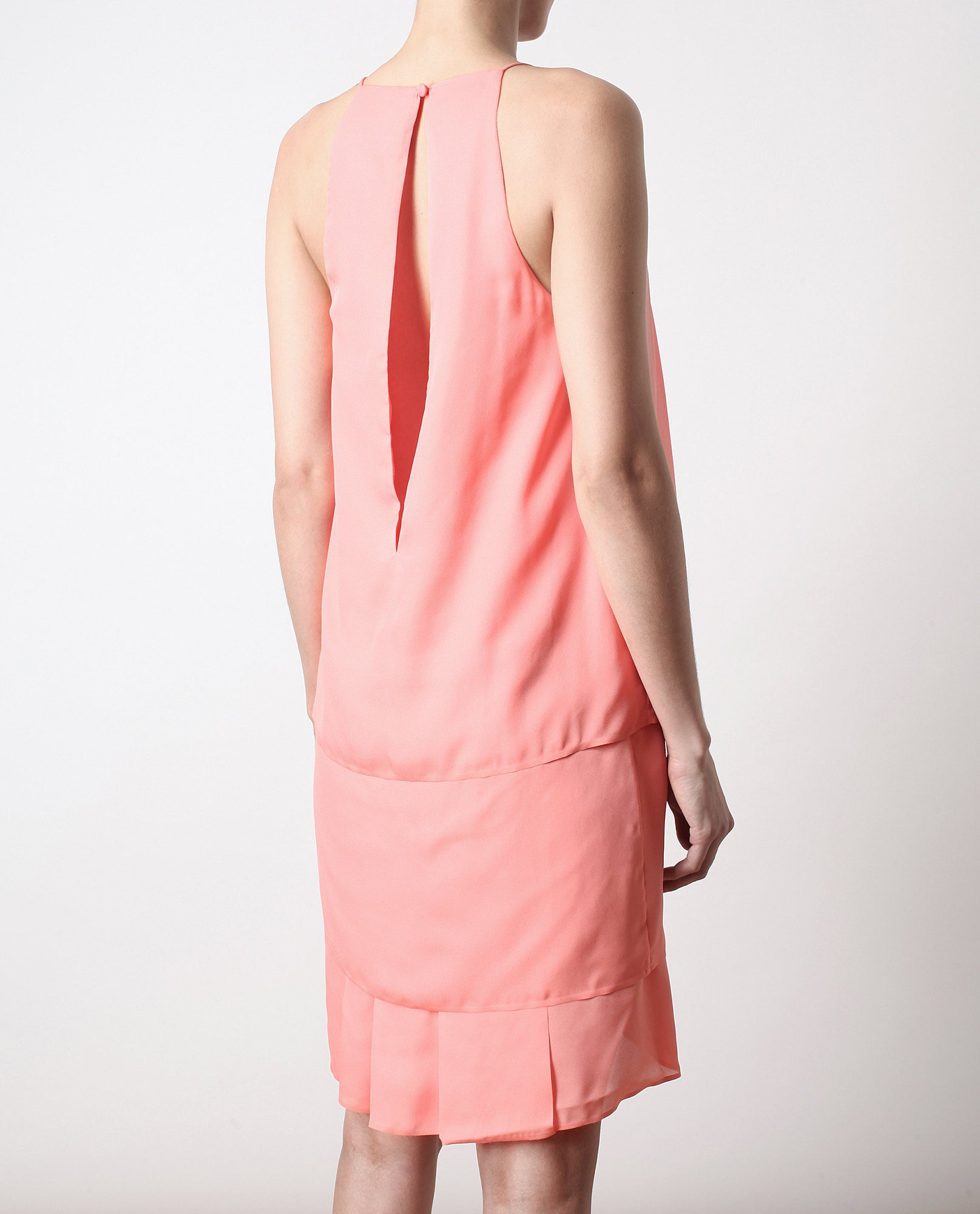 'Satya' Layered Crepe Dress