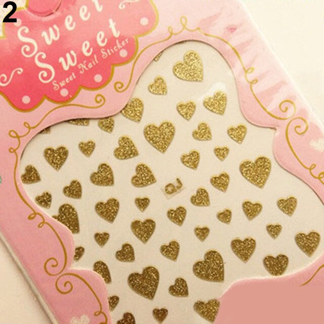 New Fashion Love Heart Design Nail Art