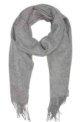 Oversized scarf in grey melange