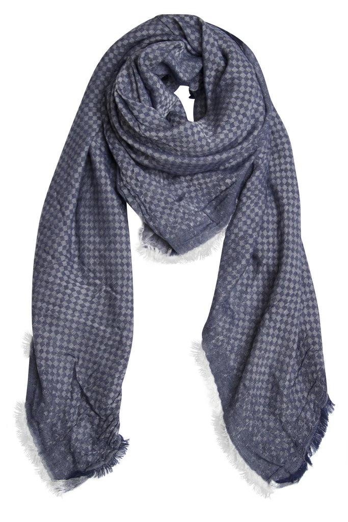 Marine blue scarf in beautiful quality