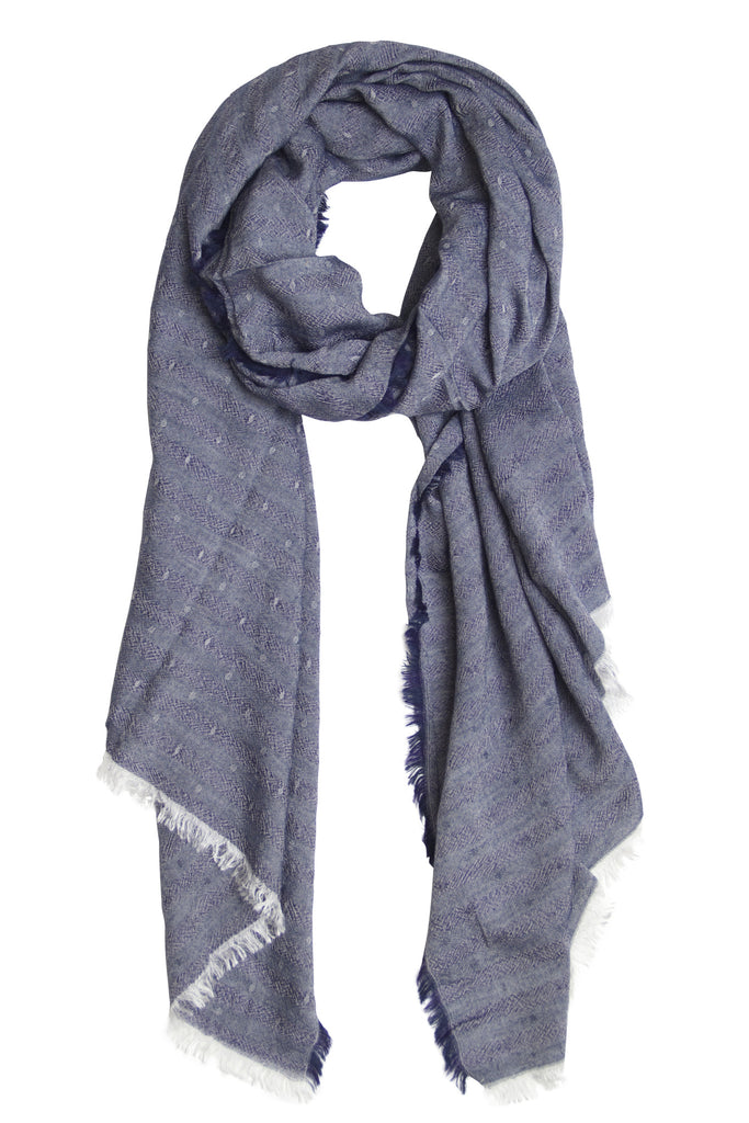 Unique navy blue scarf