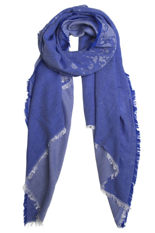 Unique blue scarf