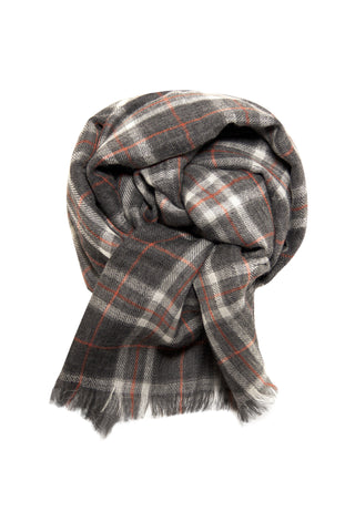 Ultra soft double faced plaid scarf