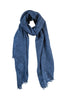 Cashmere scarf in fine blue shade