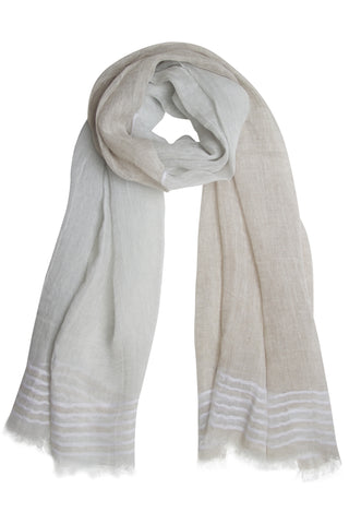 Delicate natural coloured scarf in unique quality