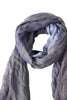 Exclusive large blue scarf in linen