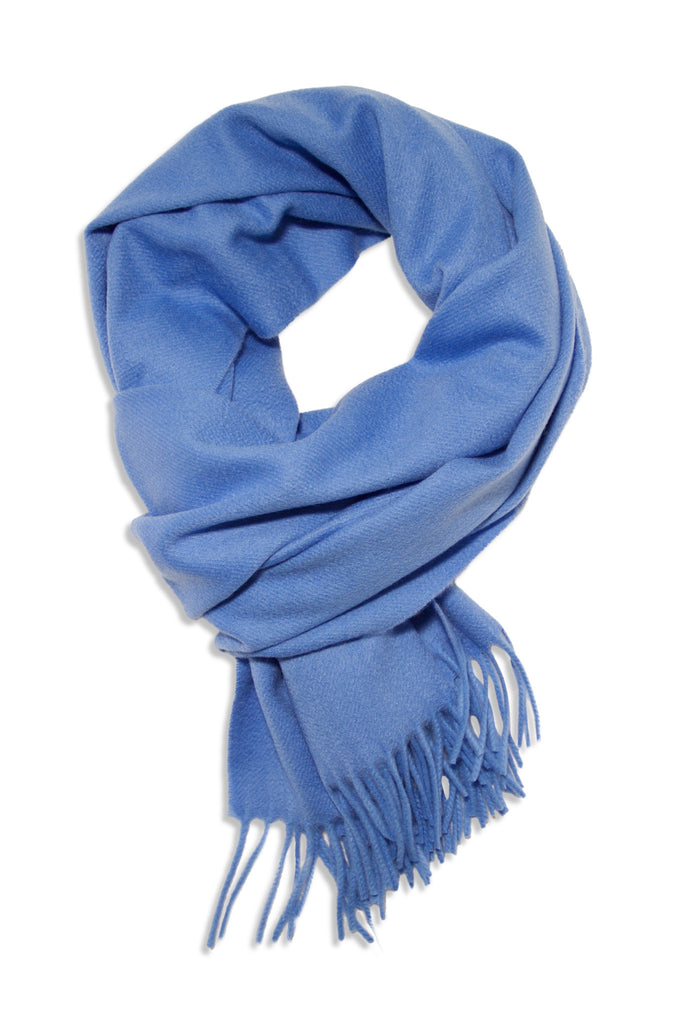 Blue cashmere scarf in exclusive quality