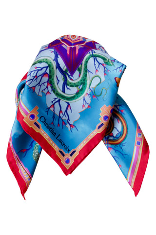 "Silk scarf ""Tree of life"" Lacroix"