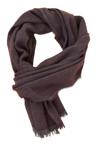 Exclusive mocca cashmere scarf
