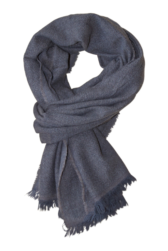 Cashmere scarf in brown and grey shades
