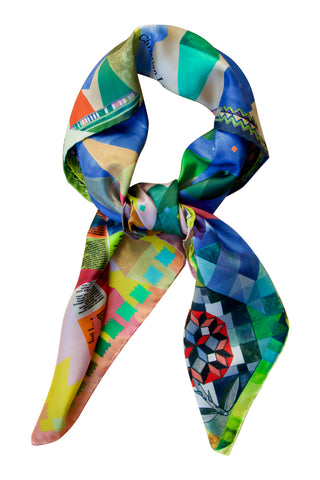 "Silk scarf ""Arlecchino"" Lacroix multi colour"