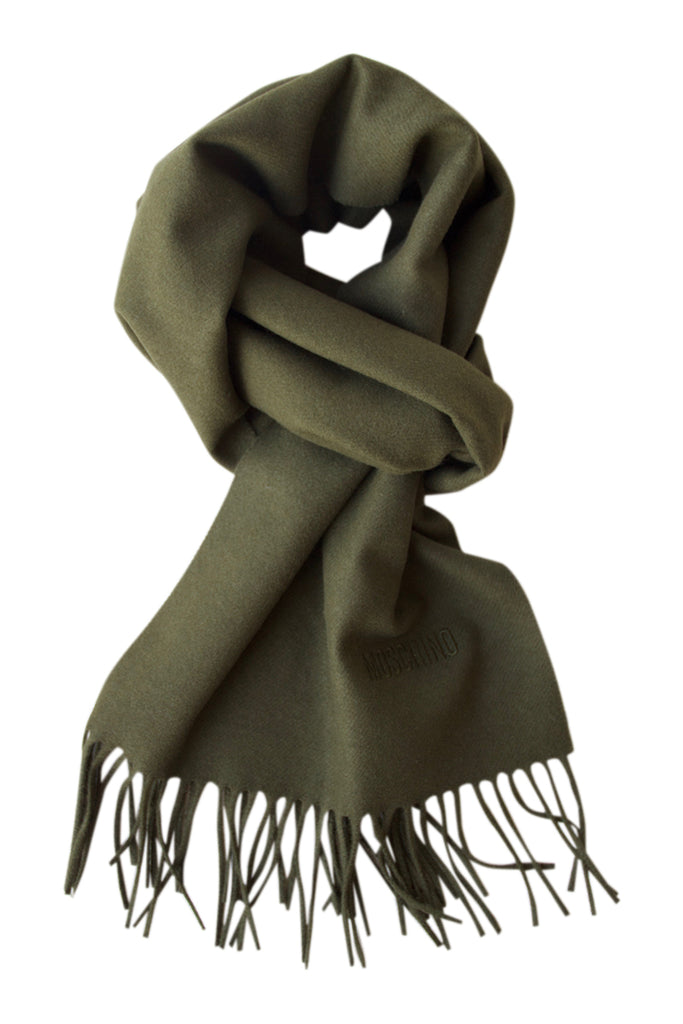 Green scarf in soft wool from Moschino