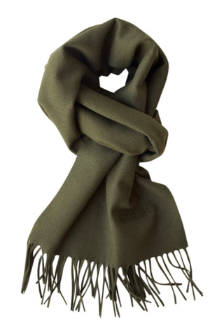 Green scarf in soft merino wool from Moschino