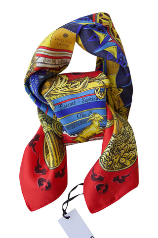 Silk scarf with beautiful print by Moschino