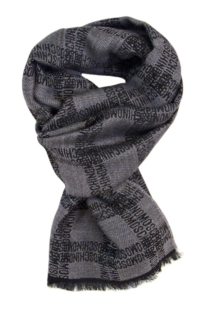 Grey scarf in 100% soft wool by Moschino
