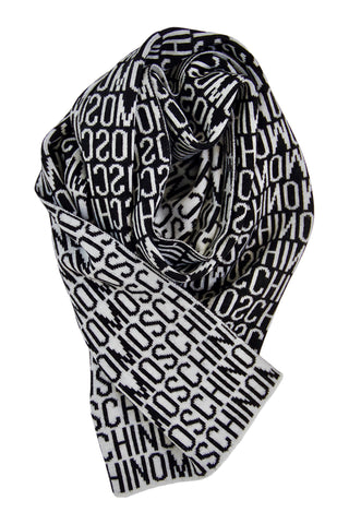 Classic scarf in black and white by Moschino