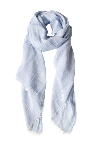 Pastel blue scarf in soft blend