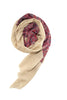 Pashmina scarf / shawl from Besos in beige, blue and ruby red