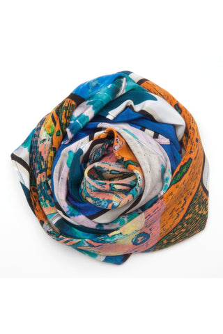 Silk scarf Oceana from Andéol