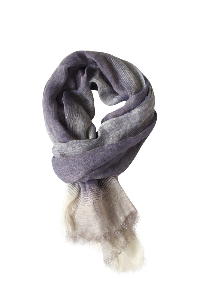 Beautiful blue scarf in linen