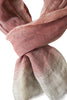 Beautiful coral linen scarf