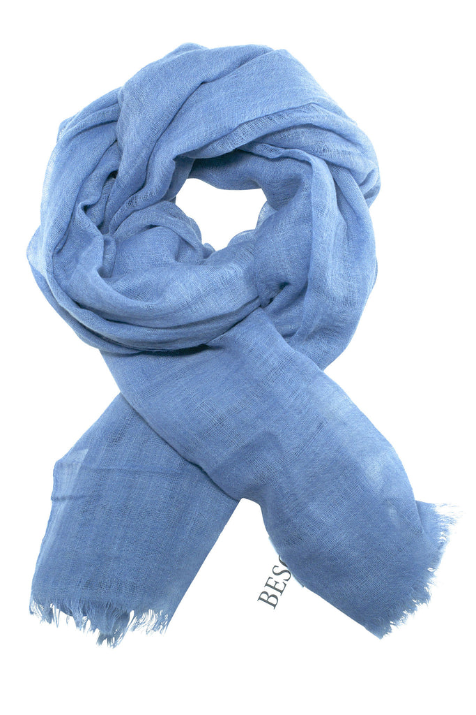 Beautifully woven dusty blue scarf