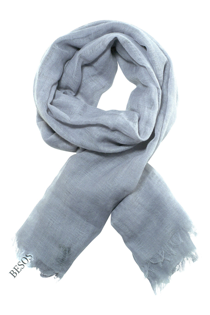 Beautifully woven grey scarf