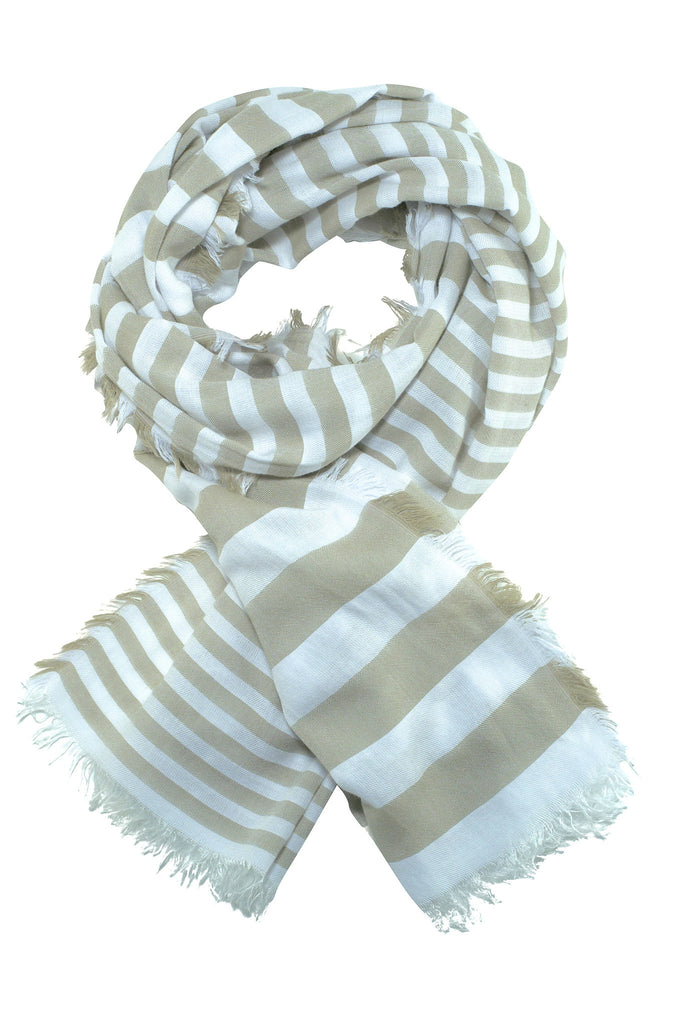 Striped sand scarf in ultra soft quality