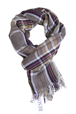 Checked scarf in fresh colour combination