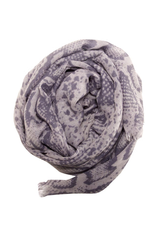 Stylish snake print scarf in grey