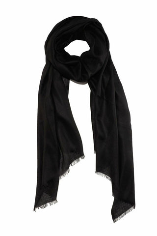 Exclusive black cashmere scarf