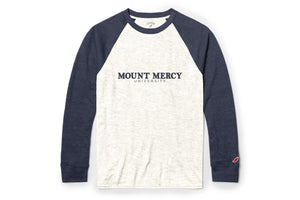 League Men's Victory Falls Raglan Baseball Tee, Linen Navy
