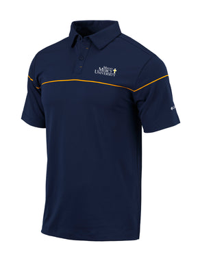 Columbia Men's Omni-Wick Breaker Polo, Navy/Gold